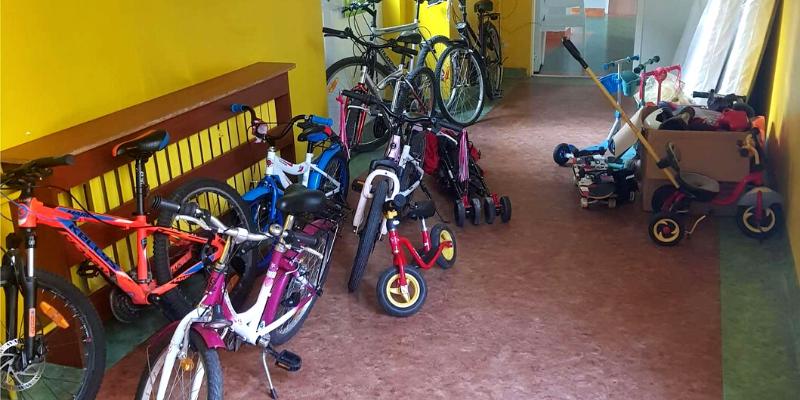 zbiórka rowerów - Veritas Fundacja