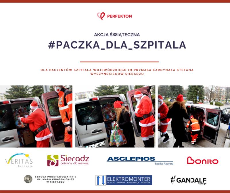 akcja świąteczna paczka dla szpitala